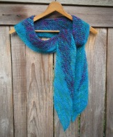 knit scarf handmade silk merino natural unique